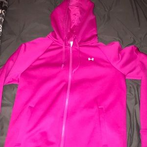 under armour zip up jacket with hoodie